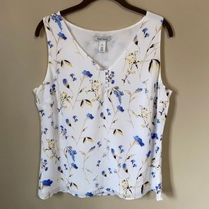 NWT WHBM Floral Button Front Shell Medium